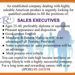 Sales Executive Jobs in Ipoh