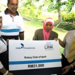 Handover of Organic Farm and Cheque Presentation