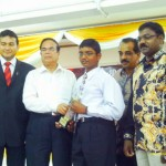 Thaneshawaren  recipient of Anugerah Menteri Besar