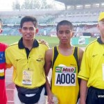 Perak's 1st Gold from Muhamad Syahmi (first from l-r) and bronze Mohamad Shamrin (3rd from left)