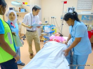 Hospital Fatimah Ipoh disaster drill