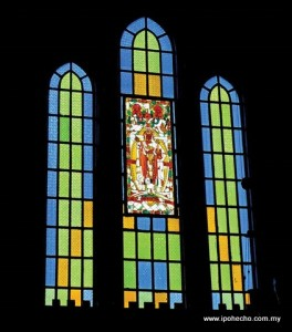 Stained-glass windows of the Church of St John the Divine