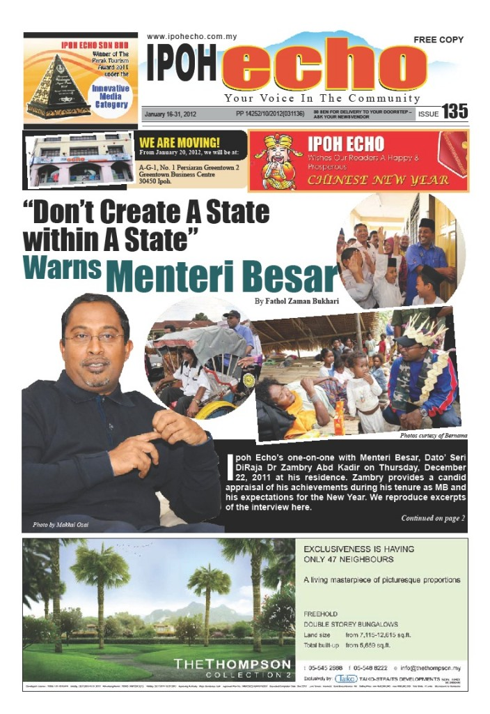 Cover of Ipoh Echo Issue 135