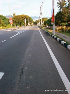 Newly-paved Silibin Road is sinking
