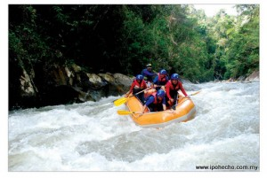 White-water rafting on the Kampar River, Gopeng