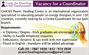 Prana Yoga vacancy