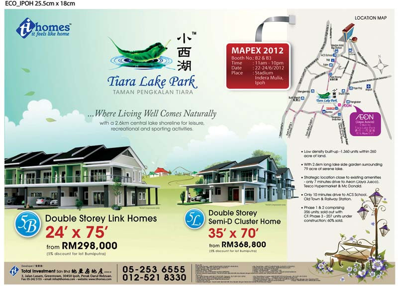 Total Investment - Ipoh properties