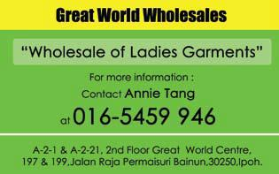 wholesales of ladies garments