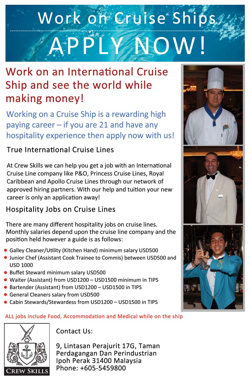 employment on cruise ships