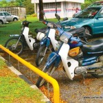 Security for Motorcycles Parked at Tun Razak Library