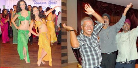 Belly dance 'teachers' with 'students'