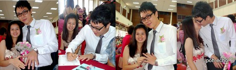 Chee Kam Leng and Chan Cheong Yuen committed to each other on 12.12.12