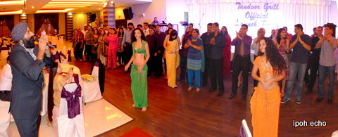 Emcee for the night was Radio DJ Flying Singh with lithesome belly dancers.