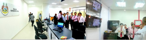 Roshidi at MBI's counter at UTC Perak and the CCTV Room
